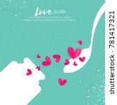 cute love elixir. chemistry of... | Shutterstock .eps vector #781417321