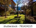 green square in ordino  andorra. | Shutterstock . vector #781424215
