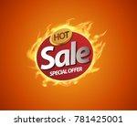hot sale price offer deal... | Shutterstock .eps vector #781425001