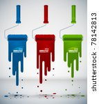 vector paint dripping from... | Shutterstock .eps vector #78142813