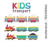 children's transport collection....   Shutterstock .eps vector #781430461