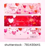 happy holidays  valentines day... | Shutterstock .eps vector #781430641