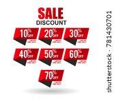 sale discount sign vector | Shutterstock .eps vector #781430701