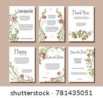 set of botanical vector cards.... | Shutterstock .eps vector #781435051
