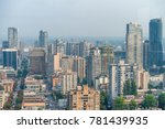 aerial view of vancouver... | Shutterstock . vector #781439935