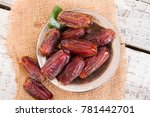 dried raw organic medjool date... | Shutterstock . vector #781442701