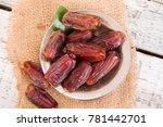 dried raw organic medjool date... | Shutterstock . vector #781442701