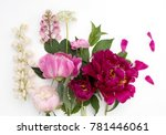 beautiful colorful peonie... | Shutterstock . vector #781446061