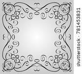 twisted black frame | Shutterstock .eps vector #781453831