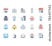 buildings colored icons 2 | Shutterstock .eps vector #781457431