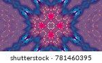 abstract magic glowing swirl... | Shutterstock . vector #781460395