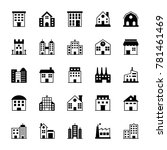 buildings solid vector icons 1 | Shutterstock .eps vector #781461469
