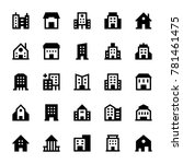 buildings solid icons 3   Shutterstock .eps vector #781461475