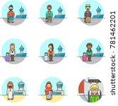 transportation air  multicolor...   Shutterstock .eps vector #781462201
