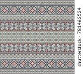 abstract ethnic stripe pattern  ... | Shutterstock .eps vector #781463524