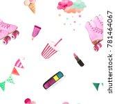 watercolor seamless pattern... | Shutterstock . vector #781464067