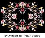 stock vector floral bouguet... | Shutterstock .eps vector #781464091