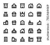 buildings line icons 1 | Shutterstock .eps vector #781464469