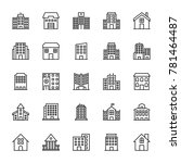 buildings vector line icons 3 | Shutterstock .eps vector #781464487