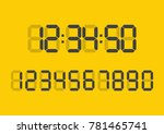 calculator digital numbers.... | Shutterstock .eps vector #781465741