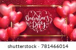 valentines day cards with heart ... | Shutterstock .eps vector #781466014