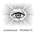 All Seeing Eye Symbol. Vision...