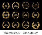 film awards wreaths set. film... | Shutterstock .eps vector #781468369