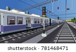 local indian railway | Shutterstock .eps vector #781468471