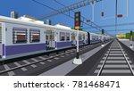 local indian railway | Shutterstock .eps vector #781468471