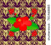 floral background. seamless... | Shutterstock . vector #781468885