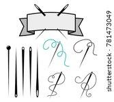 set of needle icon. needle for...   Shutterstock .eps vector #781473049