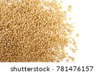 wheat grains isolated on white... | Shutterstock . vector #781476157