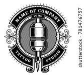tattoo studio emblem template.... | Shutterstock .eps vector #781476757