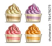 vector set of ice cream in... | Shutterstock .eps vector #781478275