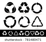 recycled cycle arrows icon set. ... | Shutterstock .eps vector #781480471