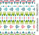 vector seamless pattern with... | Shutterstock .eps vector #781485151
