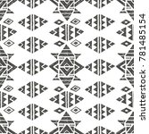vector seamless pattern with... | Shutterstock .eps vector #781485154