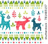 vector seamless pattern with... | Shutterstock .eps vector #781485157