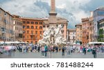 italy  rome piazza navona  the... | Shutterstock . vector #781488244