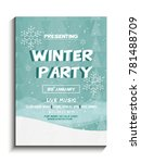 poster on winter party on 21st... | Shutterstock .eps vector #781488709