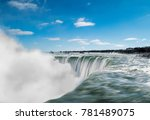 the edge of horseshoe falls... | Shutterstock . vector #781489075