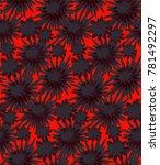 chrysanthemum seamless pattern...   Shutterstock .eps vector #781492297