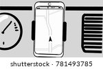 drawn smartphone with a... | Shutterstock .eps vector #781493785