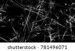 dry brush strokes and scratches ... | Shutterstock .eps vector #781496071