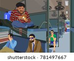 flammable articles in train | Shutterstock .eps vector #781497667