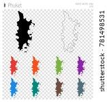 phuket high detailed map.... | Shutterstock .eps vector #781498531