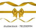 set of three holiday golden... | Shutterstock . vector #781500994