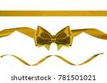 set of birthday golden satin... | Shutterstock . vector #781501021