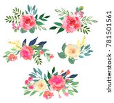 floral set. collection with... | Shutterstock . vector #781501561