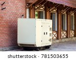 mobile generator of emergency... | Shutterstock . vector #781503655